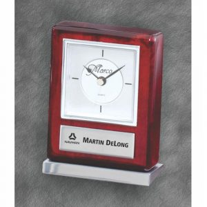 Aluminum Base Quartz Desk Clock