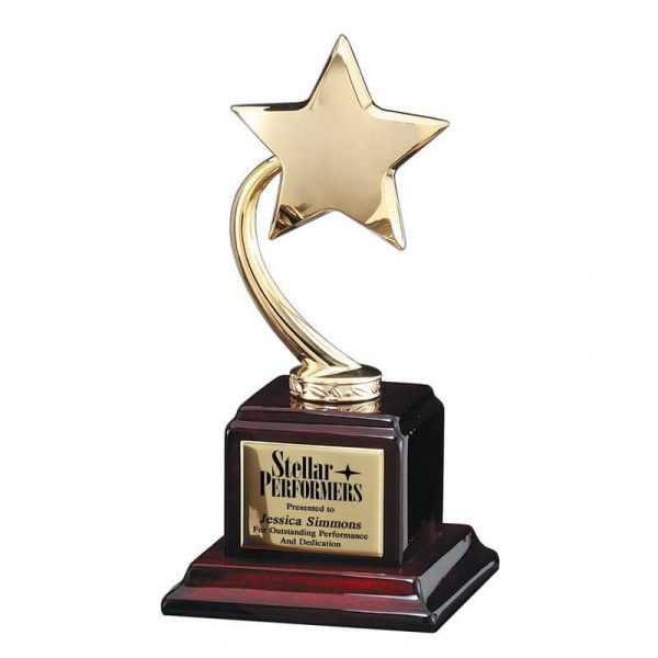 Brilliant Gold Star Piano Finish Base Award