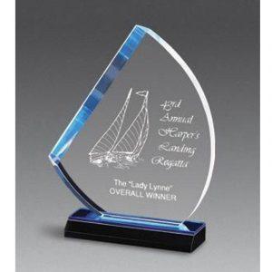 Atlantic Blue Acrylic Sail Award