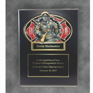 Fireman Burst Thru Casting Plaque Award