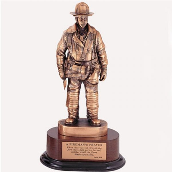 Fireman's Prayer Statue Antique Bronze Finish