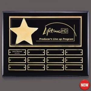 Gold Star 12 Plate Leadership Award Plaque