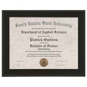 Black Finish Deluxe Certificate Holder Plaque