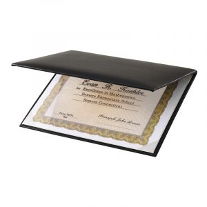 Clear Cover Padded Certificate Holder