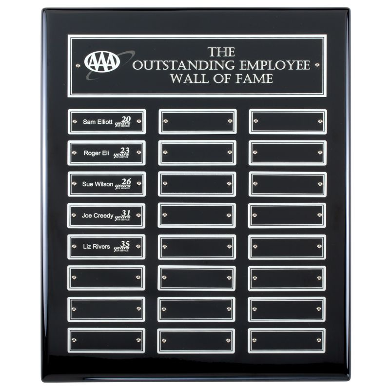 Ebony Piano Finish 24 Plate Perpetual Plaque