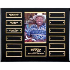 Ebony Finish Photo Holder 12 Plate Perpetual Plaque