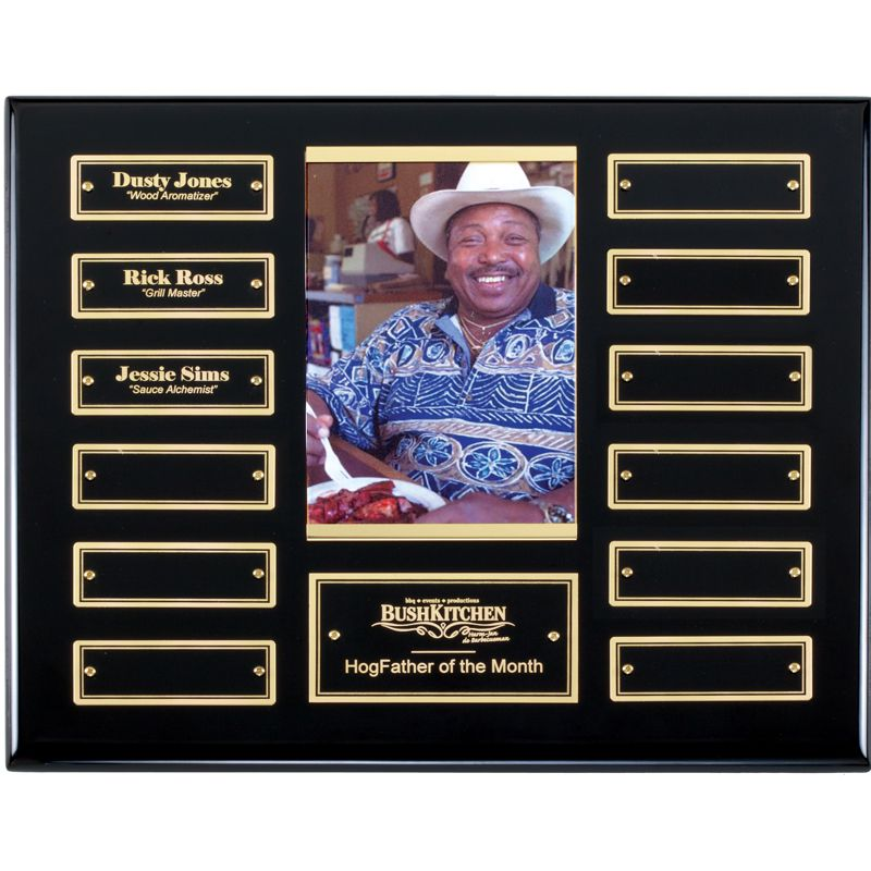 Ebony Finish Photo Holder 12 Plate Perpetual Plaque