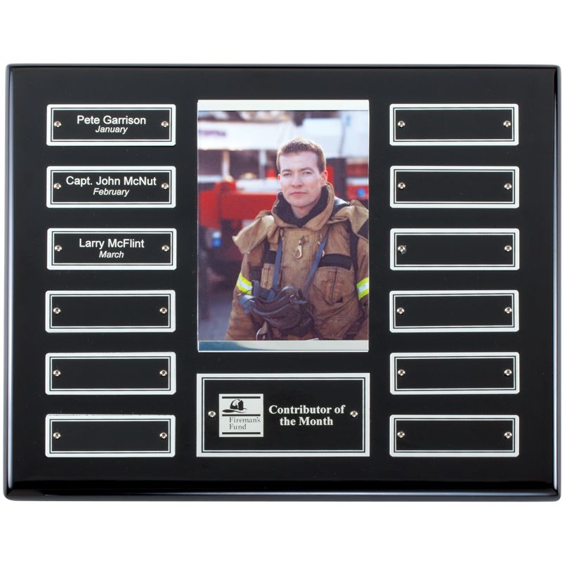 Ebony Finish Photo Holder Perpetual Plaque