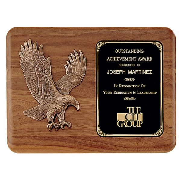 American Walnut Eagle Plaque