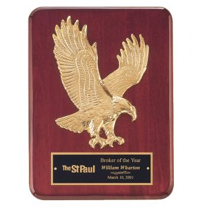 Gold Eagle Plaque Rosewood Piano Finish
