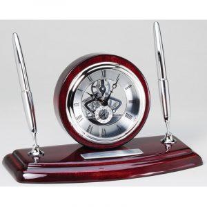 Executive Desk Clock Pen Set